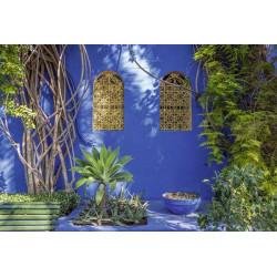 Papier peint panoramique maison bleue de Marrakech