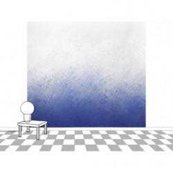 Póster con degradado de pintura azul