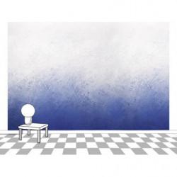 Papel pintado azul degradado