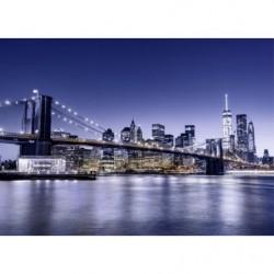 Tableau pont de Brooklyn bleu