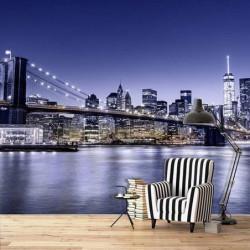 Poster panoramique pont de Brooklyn