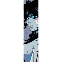 Tira de papel pintado comico femme bleue