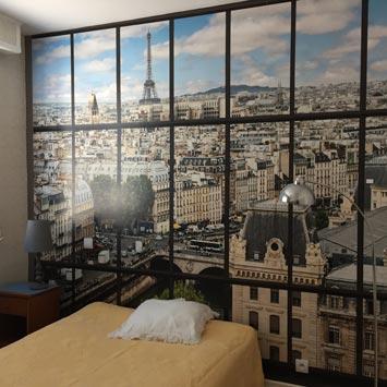 Papier peint Paris la Seine chez Marie