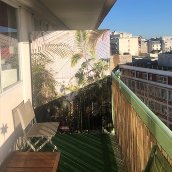 Brise vue balcon nature
