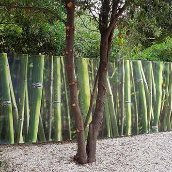 Brise vue bambou vert jardin
