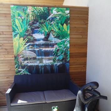 Brise vue cascade zen chez Raymond