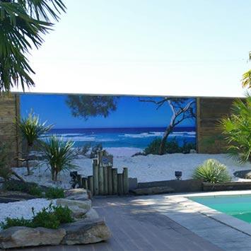 Brise vue Corsica pour piscine