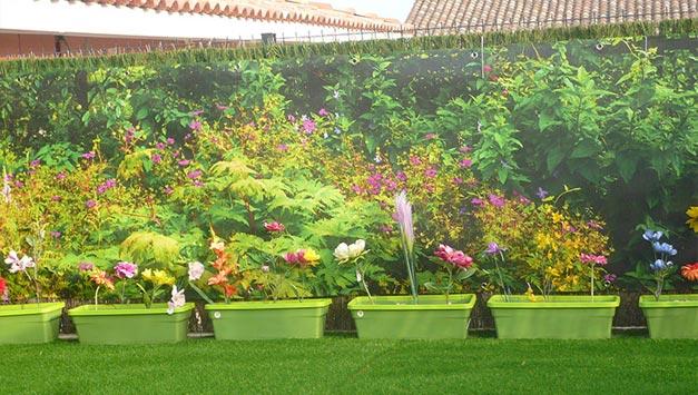 Brise vue jardin violet