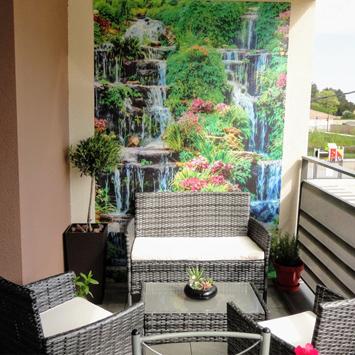 Brise vue cascade fleurie terrasse
