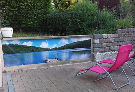 Brise vue Ponton lac privé chez Fabienne