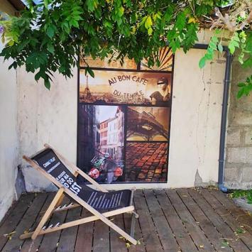 Brise vue vintage Paris chez Audrey