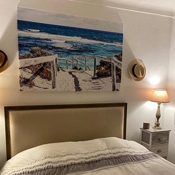 Tête de lit déco murale mer