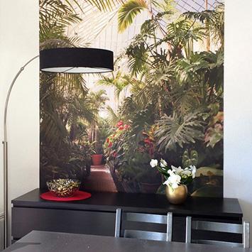 Papier peint jardin dans le salon