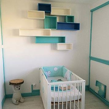 Déco chambre bébé bleue