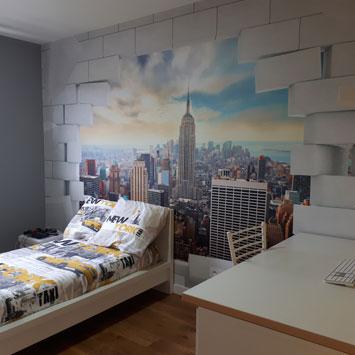 Papier peint Manhattan pour chambre