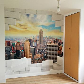 'Break Manhattan' wallpaper in our customer's home