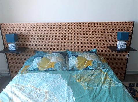 Papier peint tête de lit Cannage tressé