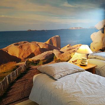 Papier peint chambre chemin des rochers