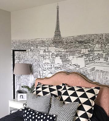 Papier peint chambre Paris éternel