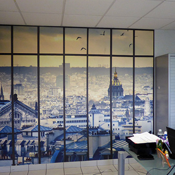 Papier peint toits de paris déco murale bureau
