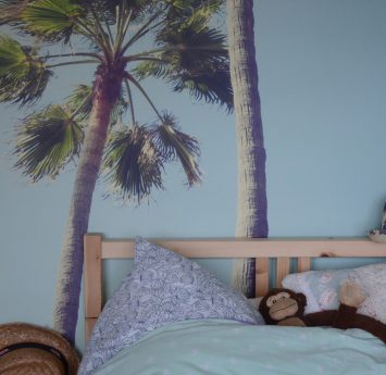 Papier peint tête de lit tropicale