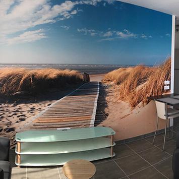 Poster chemin des dunes chez Denis
