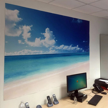 Poster plage met turquoise chez Sébastien
