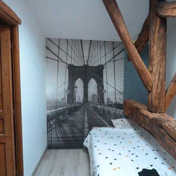 Poster pont Brooklyn noir et blanc
