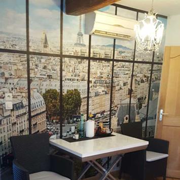 Poster Paris la Seine dans une cuisine