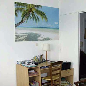 Poster plage paradis chambre