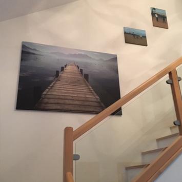 Tableau montée d'escalier chez Stéphanie