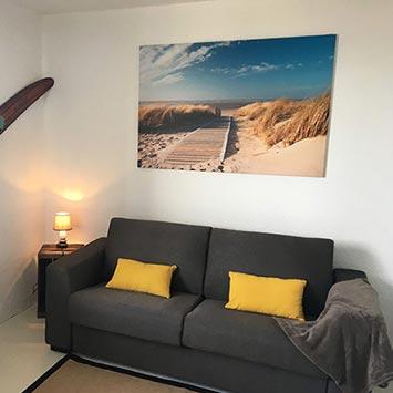 Tableau chemin des dunes chez Philippe