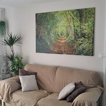 Tableau nature chemin vert chez Gaël