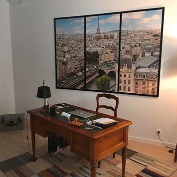 Idée d'aménagement intérieur avec le tableau Paris