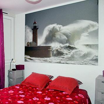 Tableau Phare de Porto dans une chambre