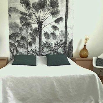 Gravure palmier format vertical