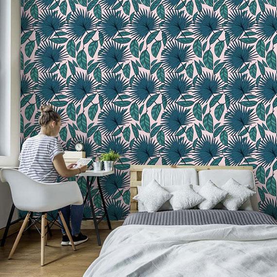 Papier peint à motif pour chambre