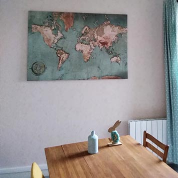 Carte du monde déco cuisine