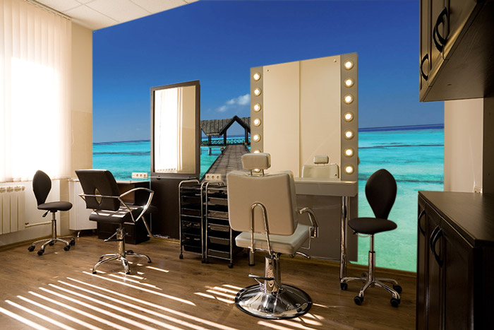 Comment refaire la d co de son salon de coiffure scenolia for Photo decoration salon