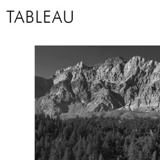 Tableau montagne