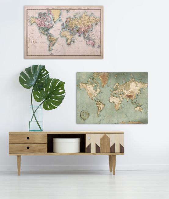 Nos décorations murales Carte du monde