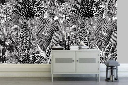 Jungle dense déco murale