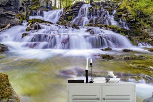 Décoration murale cascade dans la nature