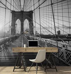 Papier peint mural perspective à Brooklyn bridge