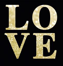 Tableau typo LOVE