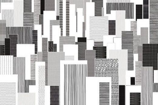 Papier peint blocks illustration ville