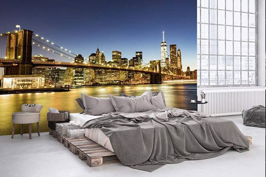 Papier peint tête de lit New York