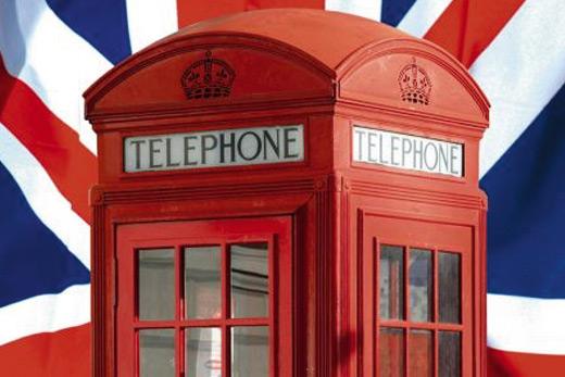 Tenture murale cabine téléphonique Londres