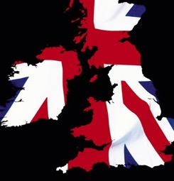 Tableau carte de l'Angleterre