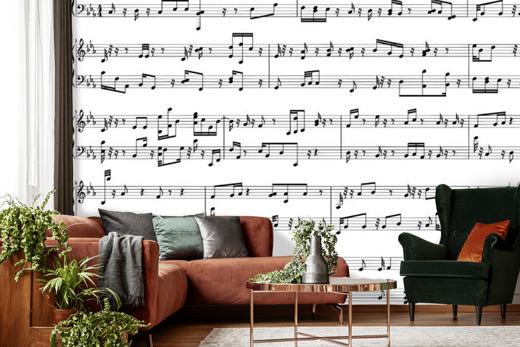Papier peint partition de musique
